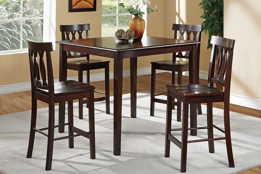 POUNDEX 5PC DINETTE SET, TABLE + 4 CHAIRS, F2259