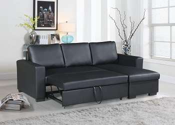 POUNDEX, 2 PCS PULL OUT SOFA SLEEPER WITH STORAGE, F6890