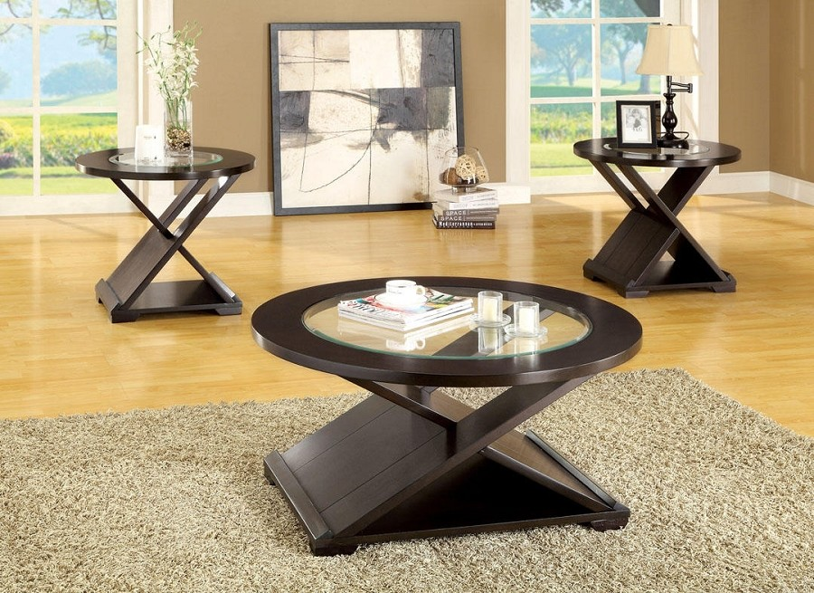 ORBE 3 PCS SET TABLES, 1 COFFEE TABLE+2 END TABLES