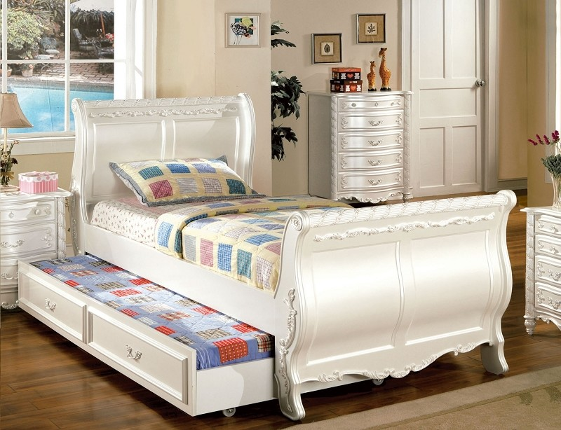 FURNITURE OF AMERICA ALEXANDRA FULL BED +TWIN TRUNDLE , CM7226