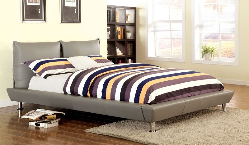 QUEEN BED GRAY