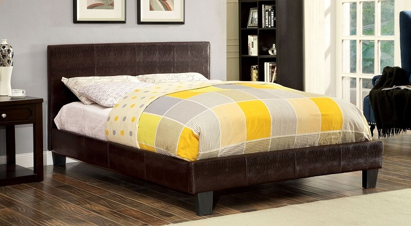 QUEEN BED BROWN