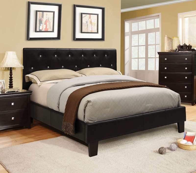 QUEEN BED BLACK
