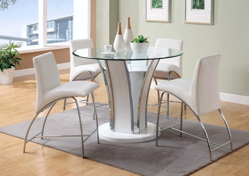 5PCS COUNTER HEIGHT TABLE+4 HIGH CHAIRS