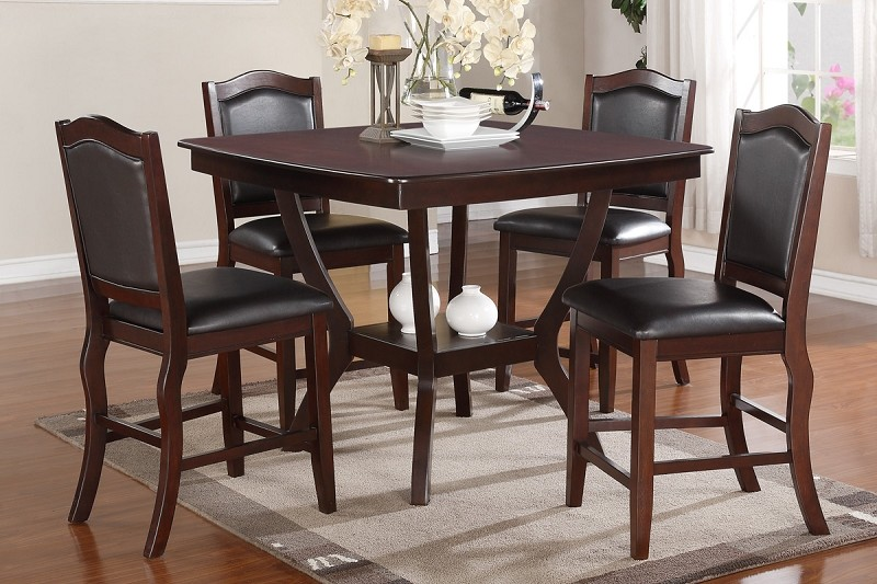 5 PCS COUNTER HEIGHT TABLE+4 HIGH CHAIRS