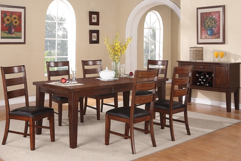 7 PCS DINING SET TABLE + 6 CHAIRS