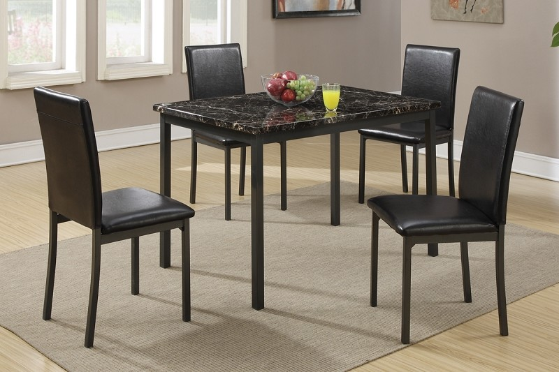 POUNDEX, 5 PC SET TABLE  + 4 CHAIRS, F2361