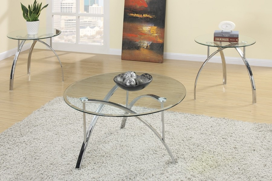 POUNDEX, 3PCS SET TABLE, 1COFFEE TABLE+2END TABLES, F3098