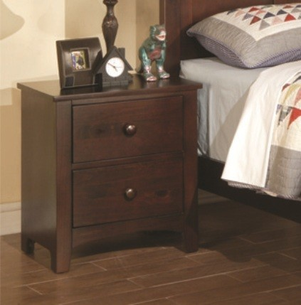 POUNDEX, NIGHT STAND DARK OAK, F4234