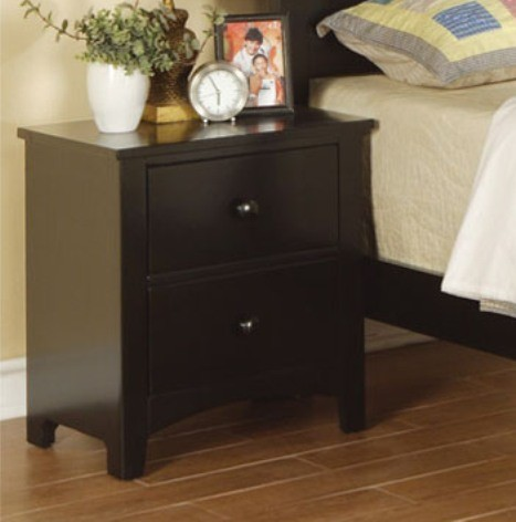 POUNDEX, NIGHT STAND DARK BLACK, F4236
