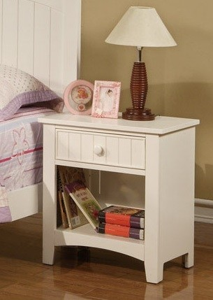 POUNDEX, NIGHT STAND  WHITE, F4232