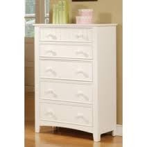 POUNDEX, 5 DRAWERS CHEST WHITE, F4239