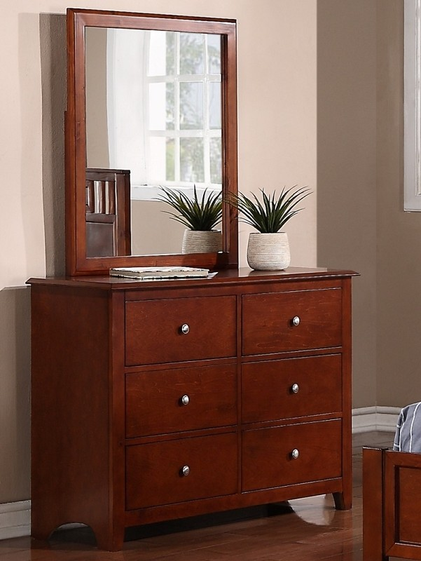POUNDEX, DRESSER & MIRROR  DARK OAK, F4279/F4278