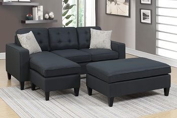 POUNDEX, REVERSIBLE SECTIONAL BLACK, F6575