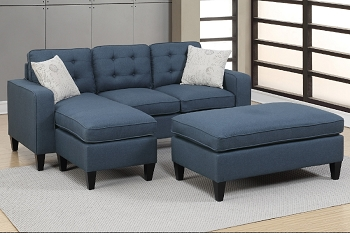 POUNDEX, REVERSIBLE SECTIONAL NAVY, F6577