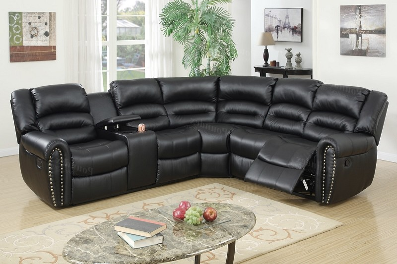 POUNDEX SECTIONAL W/2 RECLINERS, F6743