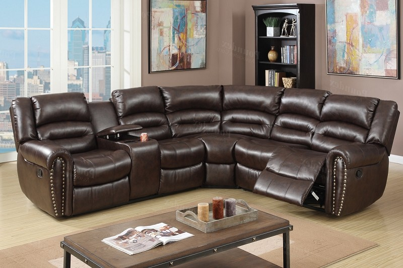 POUNDEX SECTIONAL W/2 RECLINERS, F6744