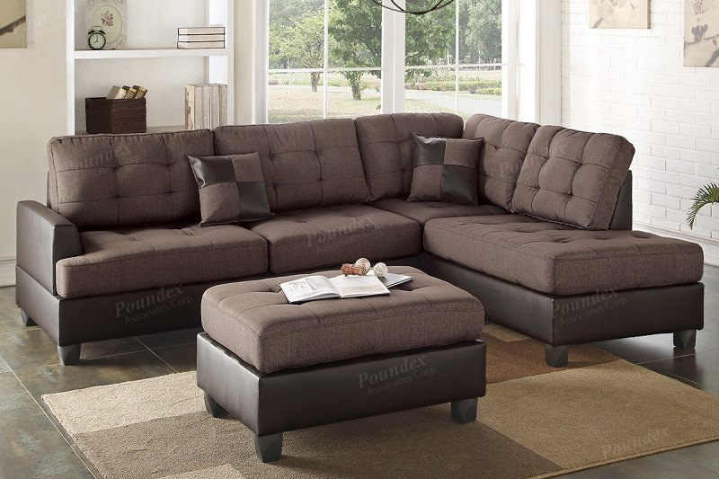 POUNDEX BRAND NEW SECTIONAL + OTTOMAN, F6857