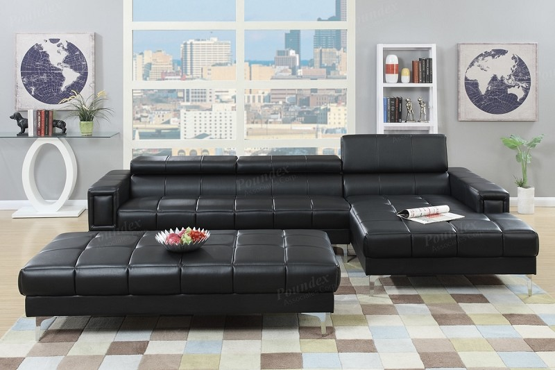POUNDEX 2 PCS SECTIONAL (OTTOMAN SOLD SEPARATELY), F7363