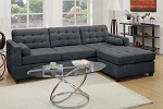 POUNDEX 2 PCS SECTIONAL SOFA SLATE , F7587