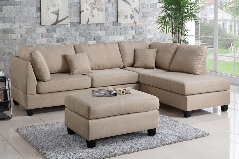 POUNDEX 2 PCS SECTIONAL WITH OTTOMAN, F7605