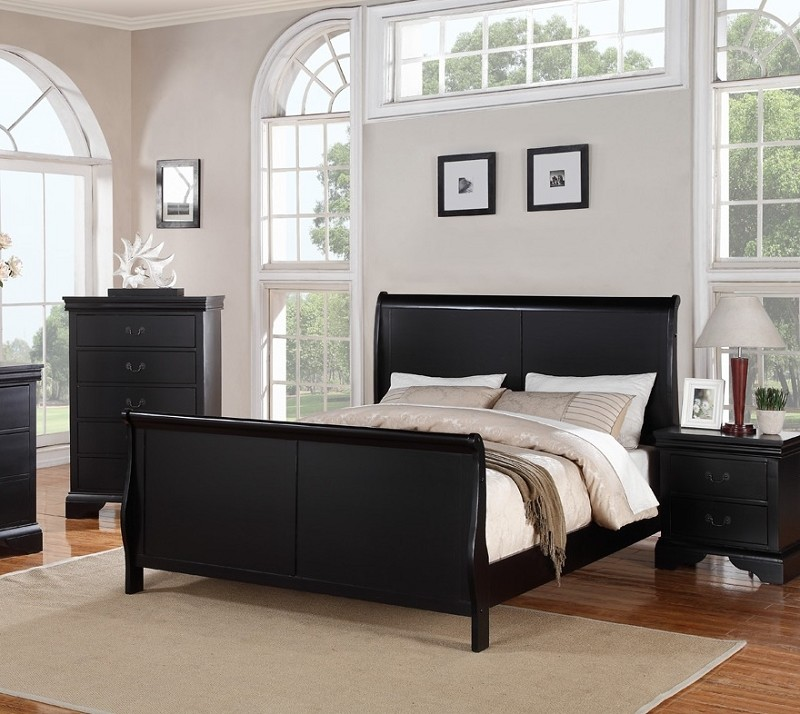 POUNDEX, FULL BED BLACK FINISH, F9230F