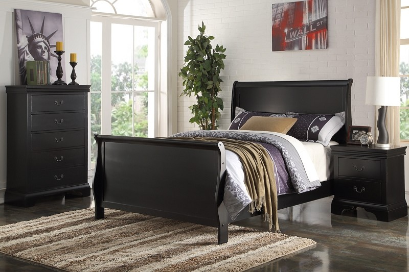 POUNDEX TWIN  BED BLACK FINISH, F9230T