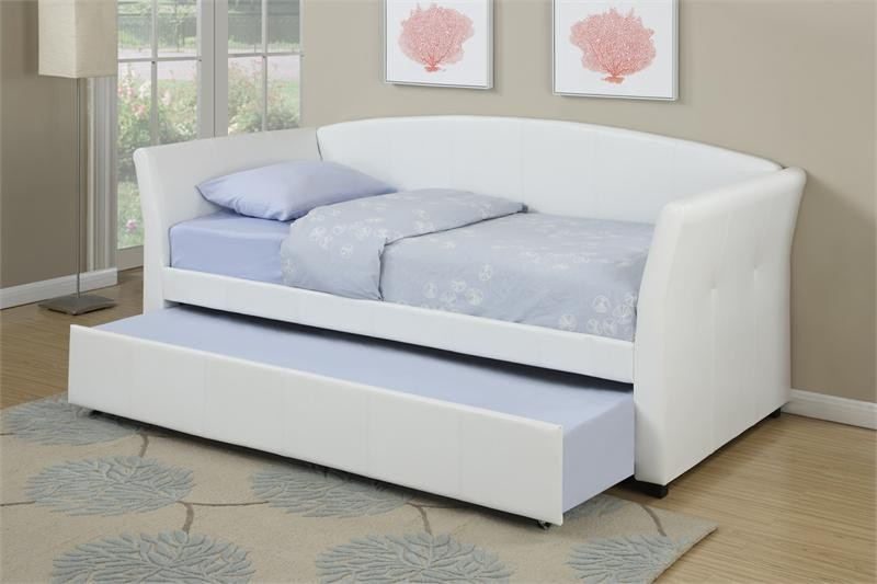 POUNDEX, TWIN/TWIN DAYBED  WHITE, F9259