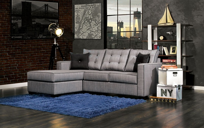 2 PCS SECTIONAL GRAY