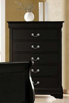 COASTER, 5 DRAWERS CHEST BLACK , 203965
