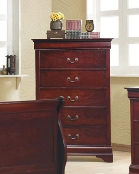 COASTER, 5 DRAWERS CHEST CHERRY/BROWN , 203975