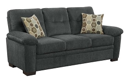 SOFA CHARCOAL CHENILLE, 506584