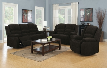 GORDON 2 PCS MOTION  SOFA SET  BROWN CHENILLE. 601461-s2 (CHAIR SOLD SEPARATELY)
