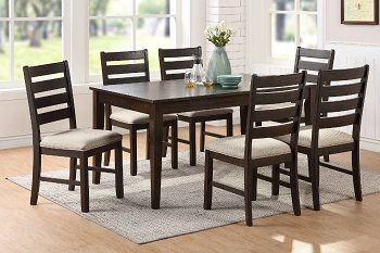 7 PCS DINING SET RUBBER WOOD, F2555