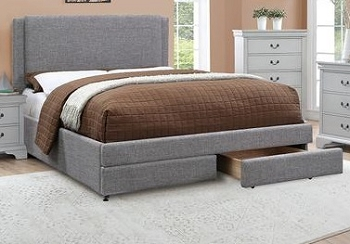 POUNDEX, FULL SIZE BED FRAME GRAY, F9365F