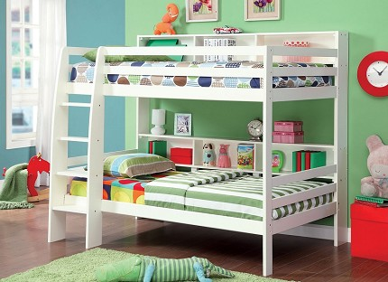 CAMINO TWIN/TWIN BUNK BED WHITE FINISH