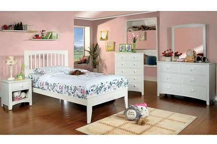 PINE BROOK TWIN BED WHITE FINISH