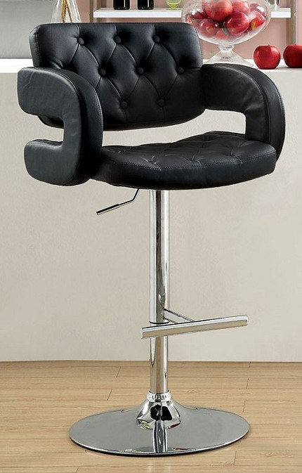 FURNITURE OF AMERICA, SWIVEL BAR STOOL IN BLACK, CM-BR6917BK