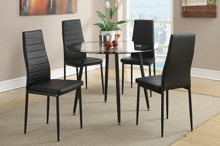 POUNDEX, 5PC DINETTE SET, TABLE+4 CHAIRS, F2203, F1366